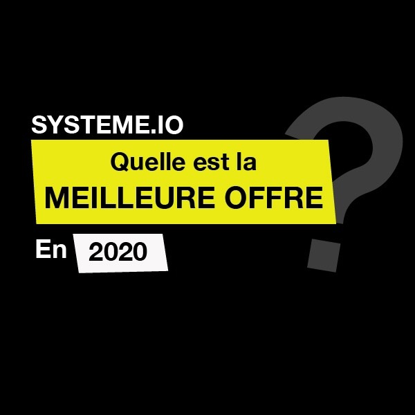 meilleure offre systeme.io 2020